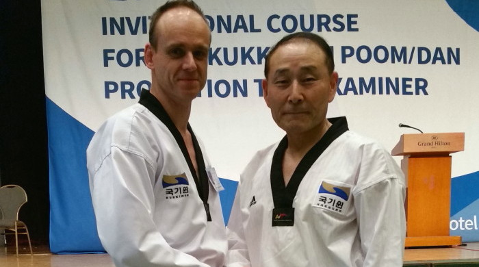 Master Jan Meybosch 8th Dan and Grandmaster Hwang In Shik 9th Dan